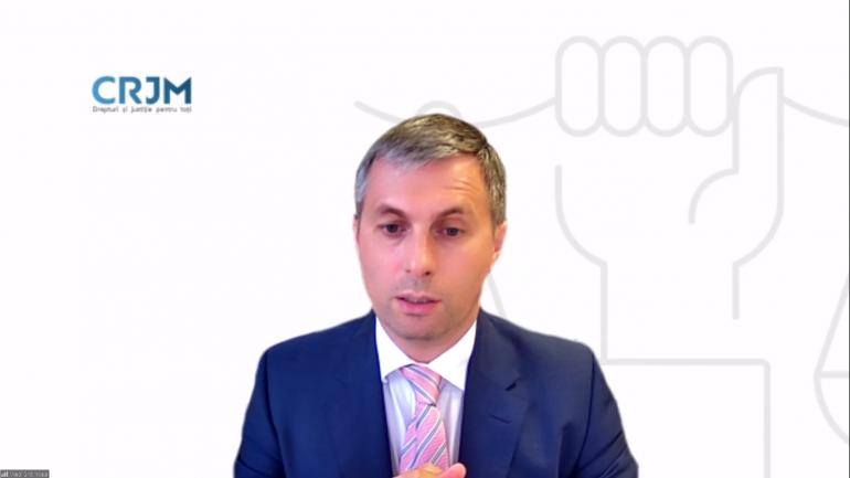 """Lansarea Raportului CRJM """"Promovarea Procurorilor de la lege la realitate: 1 ianuarie 2019 – 31 mai 2021"""""""