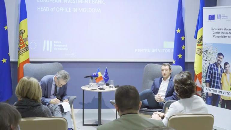 Întâlnire de presă cu noul șef al oficiului Băncii Europene de Investiții în Republica Moldova, Alberto Carlei