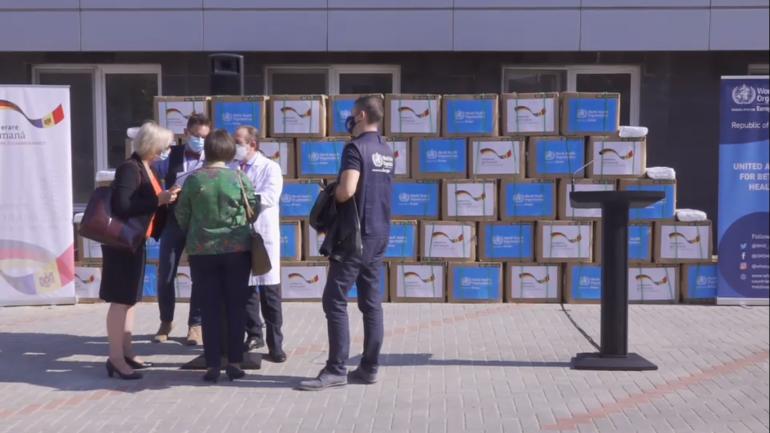 Evenimentul de recepționare a unui lot de un milion de măști de protecție, destinate sistemului medical, donate de Guvernul Germaniei