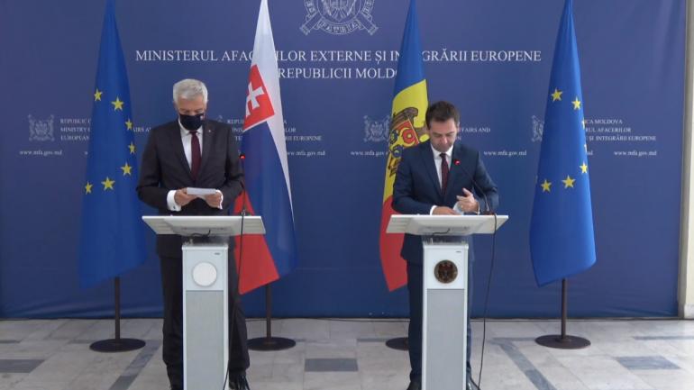 Declarații de presă susținute de Ministrul Afacerilor Externe și Integrării Europene al Republicii Moldova, Nicu Popescu, și Ministrul Afacerilor Externe și Europene al Republicii Slovace, Ivan Korčok