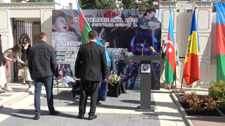 Ambasada Republicii Azerbaidjan în Republica Moldova: Ceremonie de comemorare a victimelor războiului din Karabah