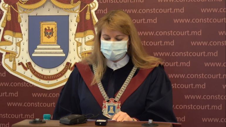 Briefing de presă susținut de Președinte ad-interim al Curții Constituționale, Liuba Șova