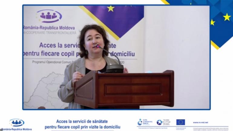 """Evenimentul de finalizare a proiectului transfrontalier """"Acces la servicii de sănătate pentru fiecare copil prin vizite la domiciliu"""""""