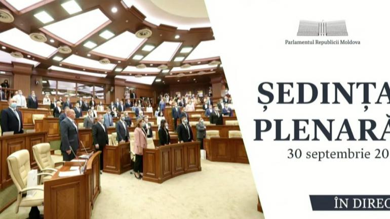 Ședința plenară a Parlamentului Republicii Moldova, din 30 septembrie 2021