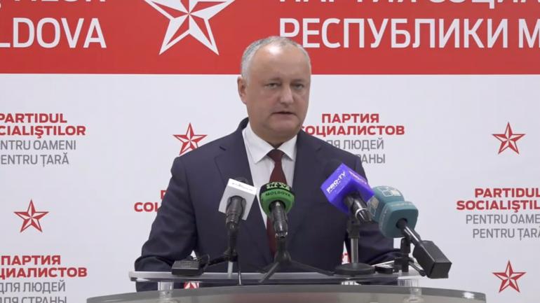 Agenda - Igor Dodon, președintele Partidului Socialiștilor din Republica Moldova, susține un briefing de presă