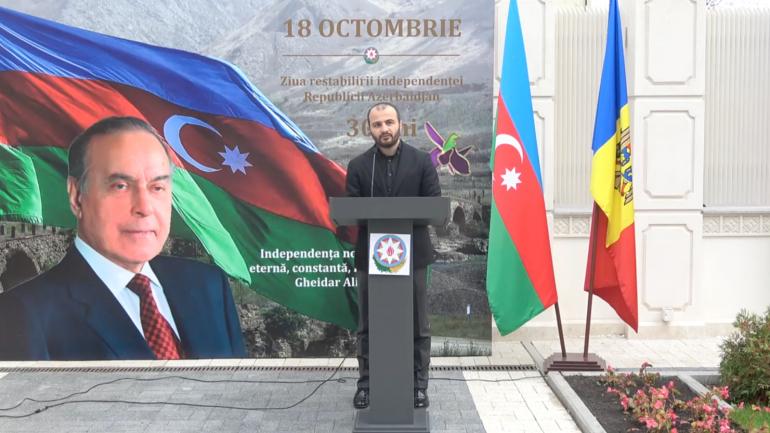 Eveniment dedicat Zilei Independenţei Azerbaidjanului, la Ambasada de la Chișinău