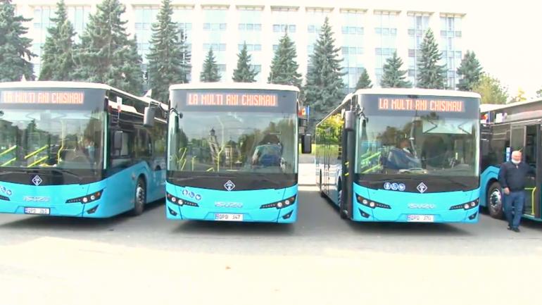 Lansarea pe rute a nouă autobuze noi de model ISUZU din lotul celor 100 de unități achiziționate recent de municipalitate