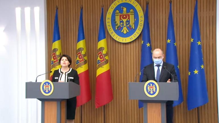 Conferință de presă susținută de prim-ministrul Natalia Gavrilița și vicepremierul pentru digitalizare, Iurie Țurcanu