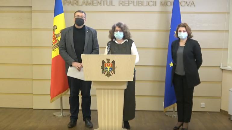 Agenda - Briefing de presă susținut de către deputații PAS – Liliana Nicolaescu-Onofrei, Virgil Pâslariuc și Marcela Adam