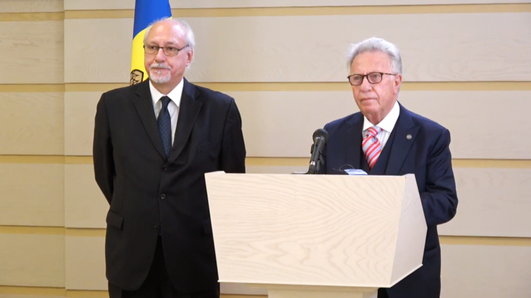 Briefing de presă susținut de către delegația Grupului de Lucru de nivel înalt a Consiliului Europei privind reforma justiției în Republica Moldova